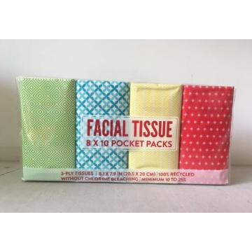 Tecido de bolso de papel de lenço de impressão personalizada de 3ply de luxo
