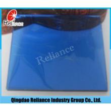 Vidro reflexivo azul escuro de 6 mm com ISO