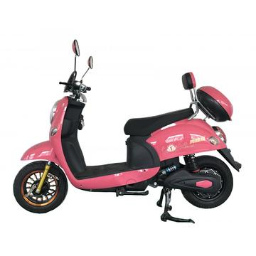Front LED lamp with pink color electric scooter