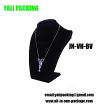 Affichage noir de collier de bijoux de forces de défense principale de velours de bruit (JN-VH-BV)