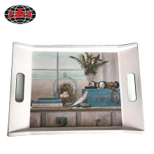 Scenery Design Plastic Tray with Printing