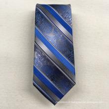 Entreprise en gros votre propre marque ruban floral rayé tissé jacquard soie cravate