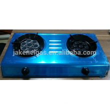 aço inoxidável queimador duplo infravermelho tabel fogão a gás, fogão a gás