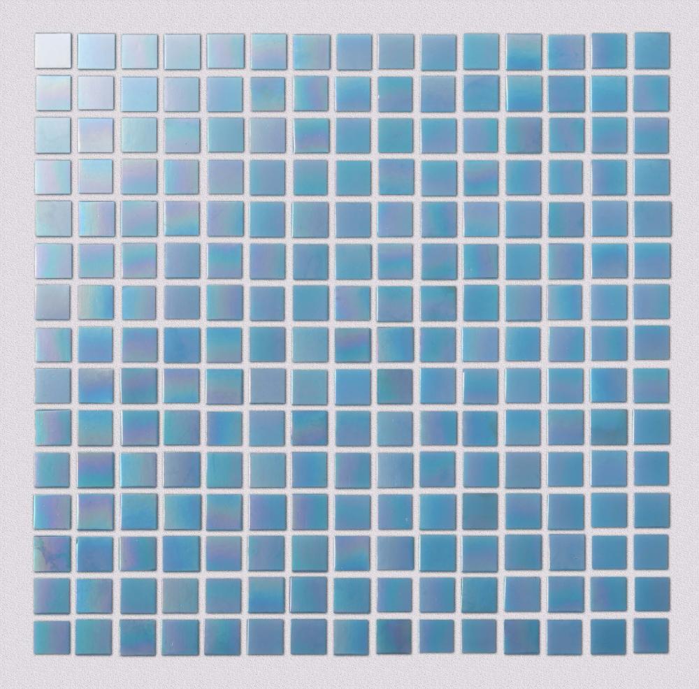 Light blue watercolor glass mosaic tiles
