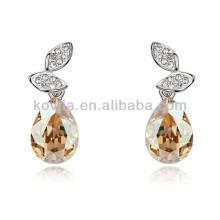 Moda brincos lágrima cristal jóias acessórios para venda