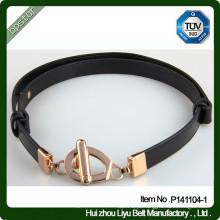 Cintura de couro feminina personalizada