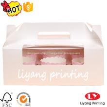 Boîte chaude de papier de gâteau de coupe de vente