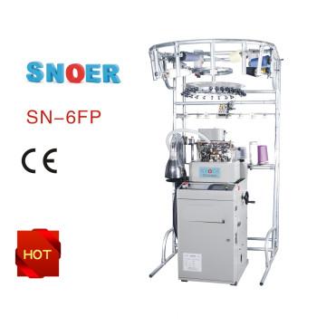WSD-6fp plana meias de tricô a máquina com cilindro único