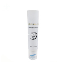 75ml Cosmetic Plastic facial cleanser tube with Brush Tube