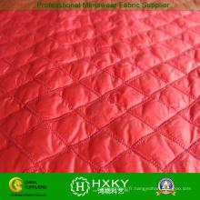 Tissu de point de diamant de taffetas de polyester pour la veste ou la doublure d'hiver d'enfants