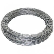 Hot dipped galvanized razor barbed wire in prison