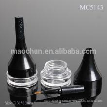 MC5143 Récipient cosmétique avec ombre à paupières avec brosse / étui / emballage avec pinceau
