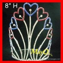 Coração alto patriótico coroa da princesa para a princesa