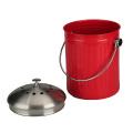 Bac à compost désodorisant en acier inoxydable avec filtre en carbone