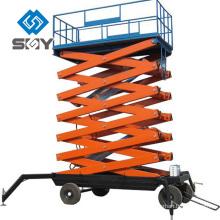 Tabla de elevación de tijera hidráulica móvil, plataforma de trabajo