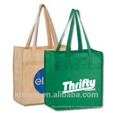 Venda quente reciclável pp não tecido saco de compras