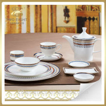 Vajilla barata al por mayor cerámica de la porcelana del hotel y del restaurante para Dubai