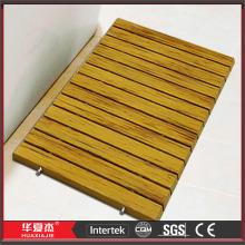 Diseño de DIY antideslizante alfombras de ducha madera de WPC