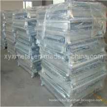 Bulk Material Handling Foldable Stackable Wire Storage Container
