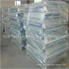 Manuseio de materiais em massa Recipiente de armazenamento de arame empilhável dobrável