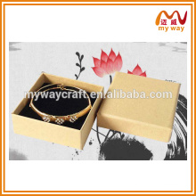 yellow cover box of custom logo printed jewelry boxes