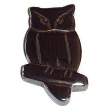 Hematite Owl Pendant