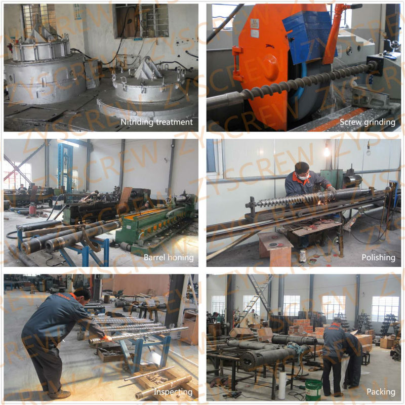 Conical Twin Screw Barrel for PVC Pipe Extrusion Screw Barrel Double Screws