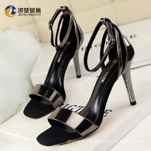 Europe and the United States wind fashion simple thin ultra-high with fine with the word temperament elegant career OL sandals