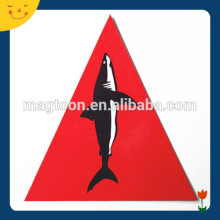 Square/triangle shape red color fish fridge magnets