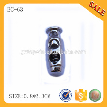 EC63 one hole metal cord stopper wholesaler,silver color metal cord end