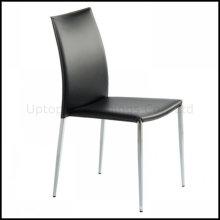 Cromo de acero de apilamiento de cuero comedor silla (SP-LC210)