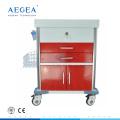AG-MT026 hospital patient trolley medical cart manufacturers four silent castors with brakes