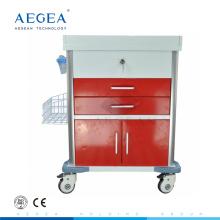 АГ-MT026 стационарного больного тележка медицинская тележка производители четыре молчком рицинусы с тормозами