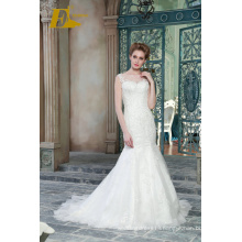 ED Bridal New Product Sexy Sleeveless Lace Appliqued Customized Mermaid Wedding Dress 2017 With Fishtail
