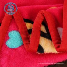 Manta de lã 100% poliéster estampada em tecido de flanela