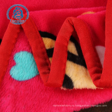 Флисовое одеяло из 100% полиэстера, фланелевая ткань с принтом