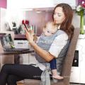Populäre dunkelblaue Babytrage / Babyriemen / Babyverpackung mit freier Probe