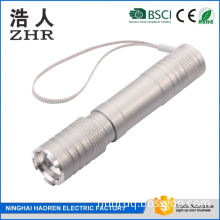 ABS Plastic Zoom Portable Led Flash Light