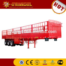 Best price for CIMC tractor trailer price flatbed trailer Three Units of FUWA 12Ton axle