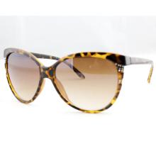 Gafas de sol polarizadas de la manera de la impresión del leopardo de la mariposa para las señoras (14199)