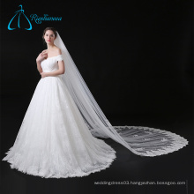 Cathedral Tulle Sequined Beading Bridal Veil For Wedding Dress