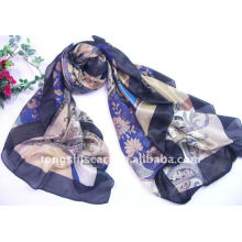 Polyester square scarf, wholesale by factory directly