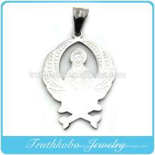 Brillante pulido de alta calidad elegante para hombre católica joyería oro colgantes santos