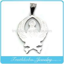 Polimento brilhante de alta qualidade elegante mens católica jóias pingentes de ouro santos