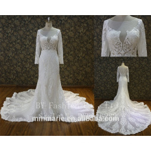 Custom Made White See Through Women Wedding Dress Empire Vintage Floor Length Princess Party Dress
