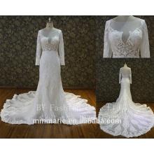 Vestido de noiva feito sob medida feito no branco Vestido de noiva Vestido de princesa Princesa Comprimento do assoalho do Empire