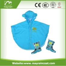 Polyester with PU Coating Travel Poncho Raincoat