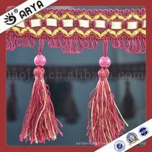 Stock et bordure courte à rideaux et garnitures Frange et garnitures Fabricant