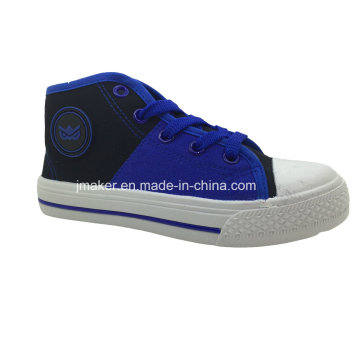 Asian Girls High Top Injection Canvas Shoes (X165-S&B)