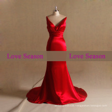 LSM006 V-neck with belts or party fishtail prom dress luxury mermaid evening dress